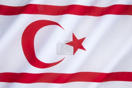 The flag of the Turkish Republic of Northern Cypru...