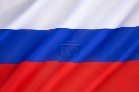 Photo pour Drapeau de la Fédération de Russie - Ce n'est qu'à la dissolution de l'Union soviétique en 1991 que l'ancien tricolore (date de 1696) a été ramené comme drapeau officiel de la nouvelle Fédération de Russie et officiellement adopté le 11 décembre 1993. - image libre de droit