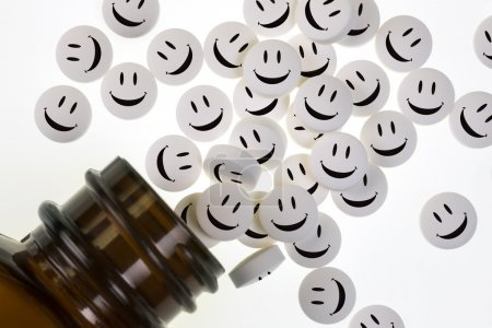 Happy Pills - Drugs - Medicine Bottle