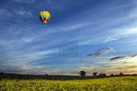 Hot Air Balloon - North Yorkshire Countryside - England