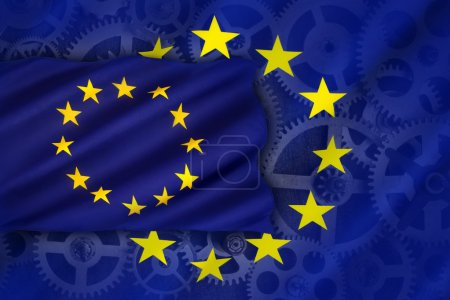 Photo for Trade and Industry in the European Union - an economic and political association of certain European countries as a unit with internal free trade and common external tariffs. - Royalty Free Image