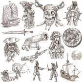 Piráti (č.2) - kolekce ručně kreslenou