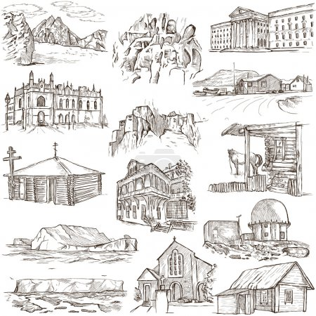 Architecture, Famous places - Full sized illustrations