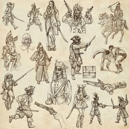 Warriors - Full sized hand drawn illustrations