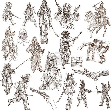 Warriors - Full sized hand drawn illustrations