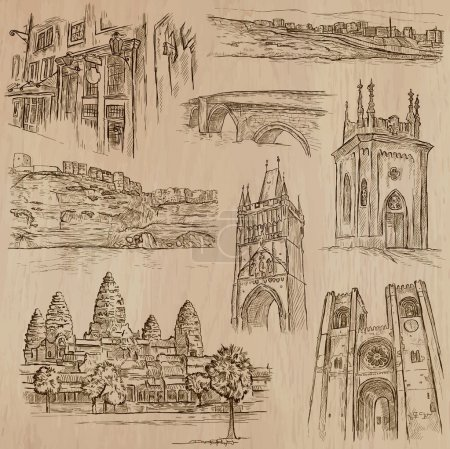 Architecture - hand drawn vector pack