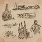 Lithuania Pictures of Life Vector pack