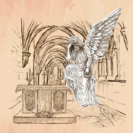 Angel - An hand drawn vector