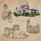 Luxembourg - an hand drawn vector pack