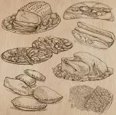 Food - hand drawn vector pack