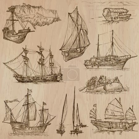Boats - An hand drawn vector pack