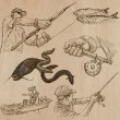 FISHING and FISHERS (set no.1) - Collection of an ...