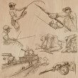 FISHING and FISHERS (set no.5) - Collection of an ...