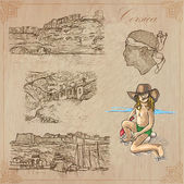 Corsica Travel - Hand drawn vector pack