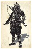An hand drawn vector from Japan Culture - Samurai Shogun
