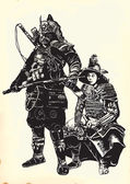 An hand drawn vector from Japan Culture - Samurais Shoguns