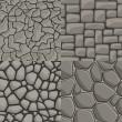 Vector cartoon stone wall seamless texture collect...