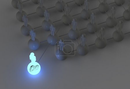 Light growing human social network