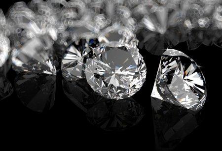 diamonds on black surface