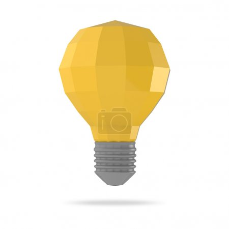 low polygonal 3d  light bulb concept symbol