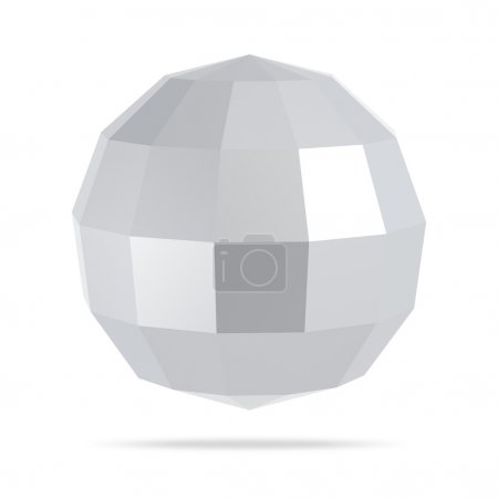 Abstract low poly 3d sphere on background