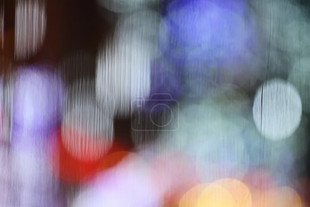 Abstract blurry bokeh on glass background