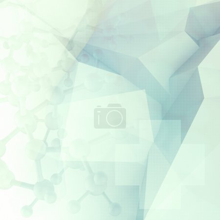 Photo for Abstract molecules low poly  medical background - Royalty Free Image