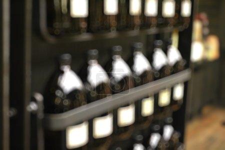Blurred vintage bottles background