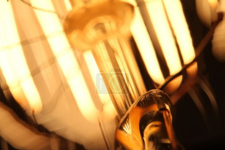 close up of vintage light bulb as creative concept