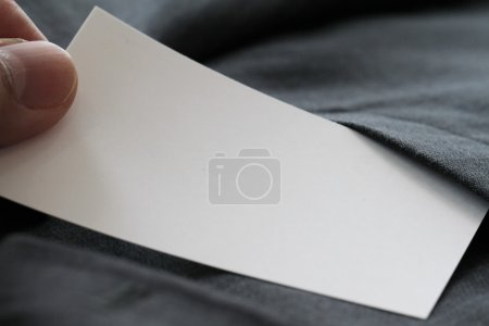 Blank corporate identity package business card with dark grey su