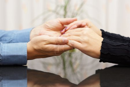 Photo for Man  holding woman hands. love and care concept - Royalty Free Image