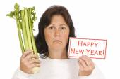 Woman Getting A Start On The New Year's Resolution
