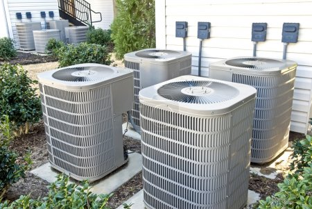 Air Conditioning Units At Apartment Complex
