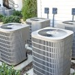 Air conditioning units at an apartment complex....