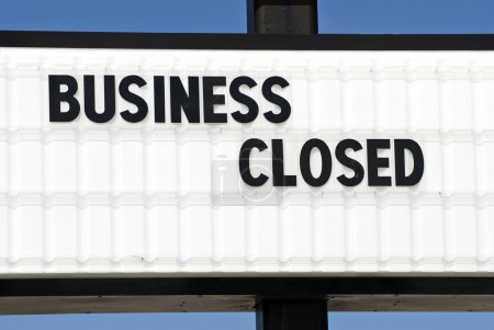 Closed Retail Business Sign