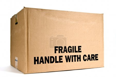 Fragile Handle With Care Brown Box