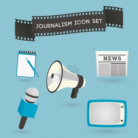 Set of journalism icons