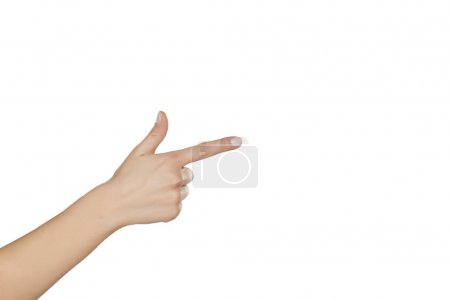 Woman's hand pointing