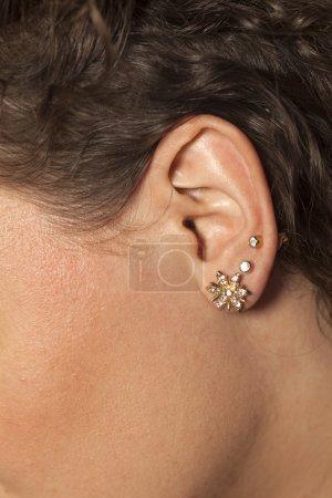 ear with earrings