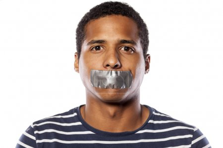 Tape over mouth