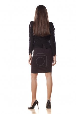 Rear view of pretty business woman