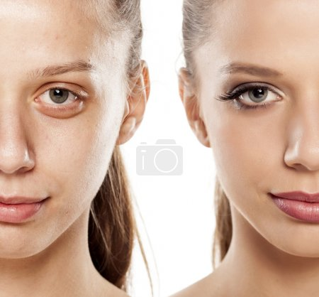 before and after make up