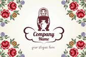 Matrioshka Matryoshka Russian doll logo for company