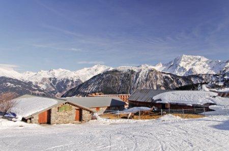Photo pour Paysage d'hiver, Savoie, Alpes françaises, France - image libre de droit