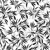 Bamboo leaf background Floral seamless texture with leaves