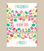 Healty food cartoon representing banners
