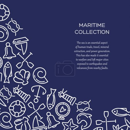 Maritime collection background