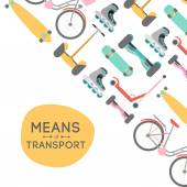 Means of transport vector background illustration with text area