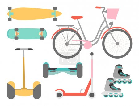 Means of transport icons set