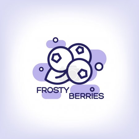 Frosty berries flat icon
